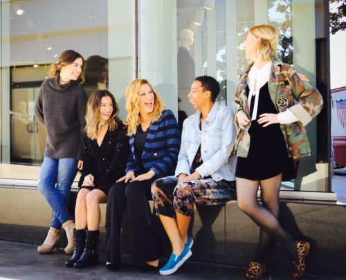 TAGS girls(Sydney, Erica, Andra and Taylor) and Rayne hanging out after a styling session.