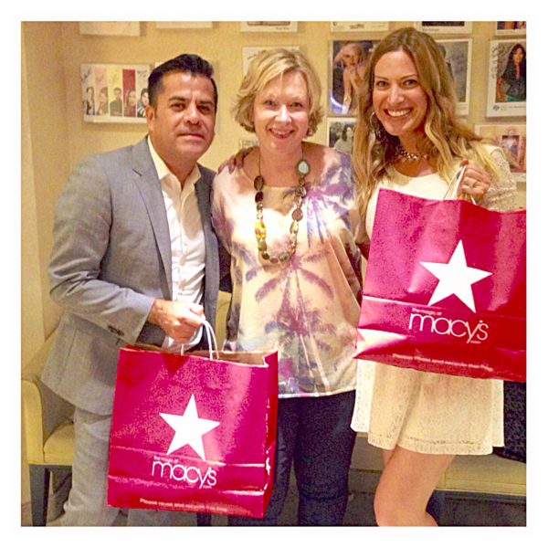 Amby, the men's personal shopper, my client from Switzerland and I after a awesome day of picking out outfits for her upcoming Hawaii trip!